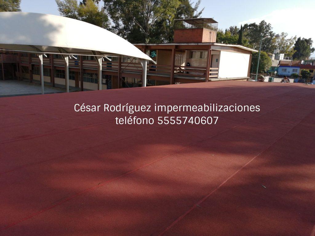 Impermeabilización de escuelas en Ciudad de México y Estado de México en promoción.
